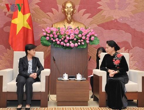 ประธานสภาแห่งชาติเวียดนามให้การต้อนรับเอกอัครราชทูตสิงคโปร์ประจำเวียดนาม - ảnh 1