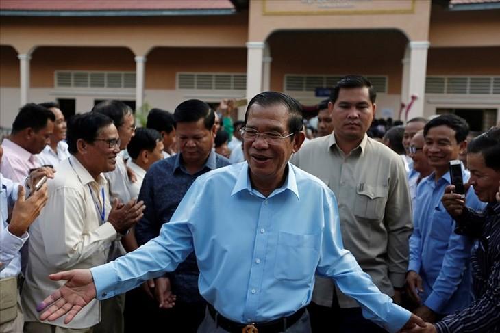 พรรคประชาชนกัมพูชาได้รับชัยชนะในการเลือกตั้งวุฒิสภาสมัยที่4 - ảnh 1