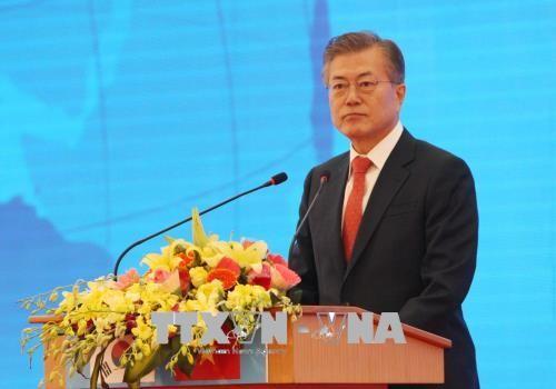 """เวียดนามเป็นเสาหลักในนโยบาย """"มุ่งสู่ทิศใต้ใหม่ของประธานาธิบดีสาธารณรัฐเกาหลี"""" - ảnh 1"""