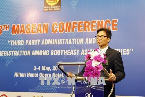 เวียดนามดำรงตำแหน่งประธานหมุนเวียนสมาคมการแพทย์อาเซียนวาระปี2018-2020 - ảnh 1