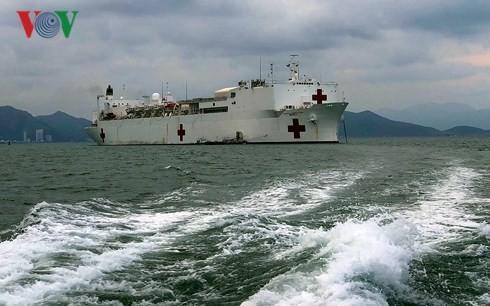 เรือพยาบาล USNS Mercy เข้าร่วมโครงการหุ้นส่วนแปซิฟิกปี2018  - ảnh 1