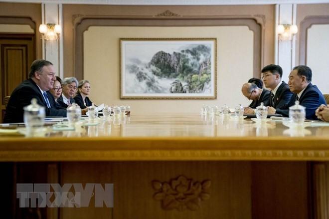 รัฐมนตรีต่างประเทศสหรัฐยืนยันว่า การสนทนากับเปียงยางบรรลุความคืบหน้า - ảnh 1