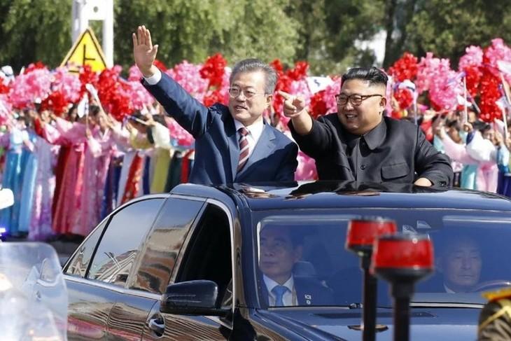 ประชาคมโลกแสดงความยินดีต่อผลการประชุมสุดยอดระหว่างสองภาคเกาหลีครั้งที่3 - ảnh 1
