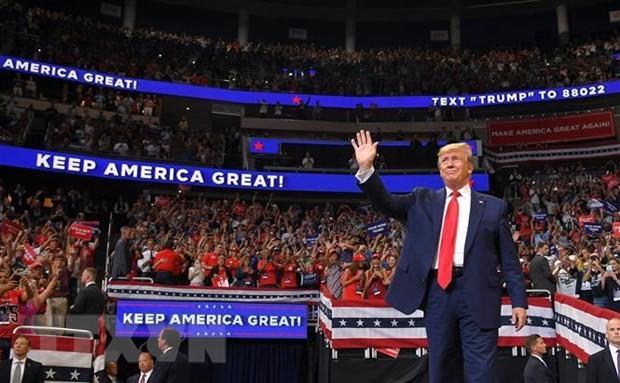 ประธานาธิบดีสหรัฐเริ่มการรณรงค์หาเสียงเลือกตั้งประธานาธิบดีสหรัฐในปี 2020 - ảnh 1