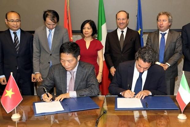 ผลักดันความสัมพันธ์ร่วมมือด้านเศรษฐกิจและการค้าระหว่างเวียดนามกับอิตาลี - ảnh 1