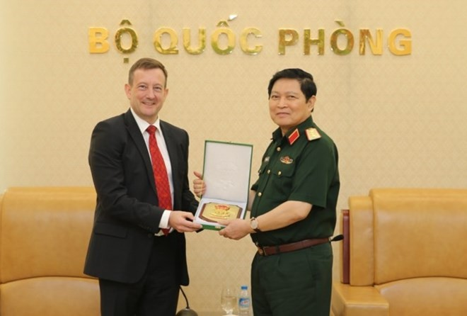 Defence Minister Ngo Xuan Lich receives French ambassador - ảnh 1