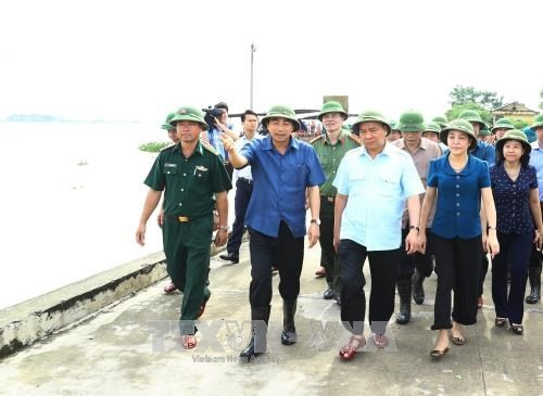 PM inspects flood response in Ninh Binh province  - ảnh 1