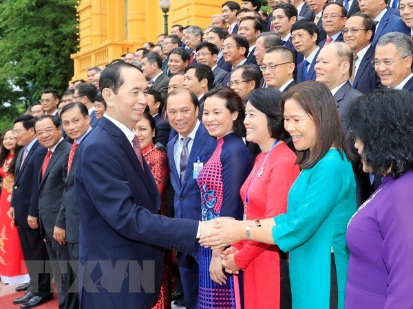 President lauds contributions of chief representatives abroad - ảnh 1
