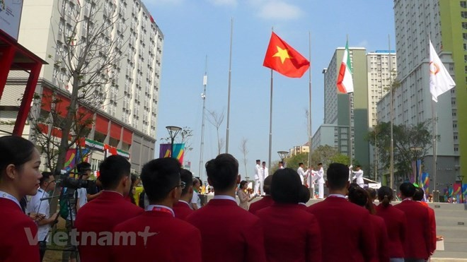 Vietnamese flag flies at ASIAD 18 - ảnh 1