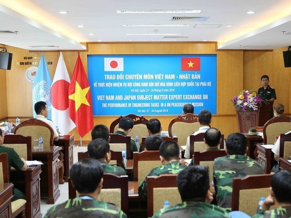 Vietnamese, Japanese sappers share peacekeeping experience - ảnh 1