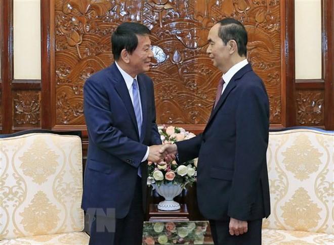 President Tran Dai Quang receives Vietnamese-Japanese Special Ambassador - ảnh 1