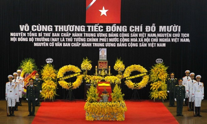 State funeral held for former Party General Secretary Do Muoi - ảnh 1