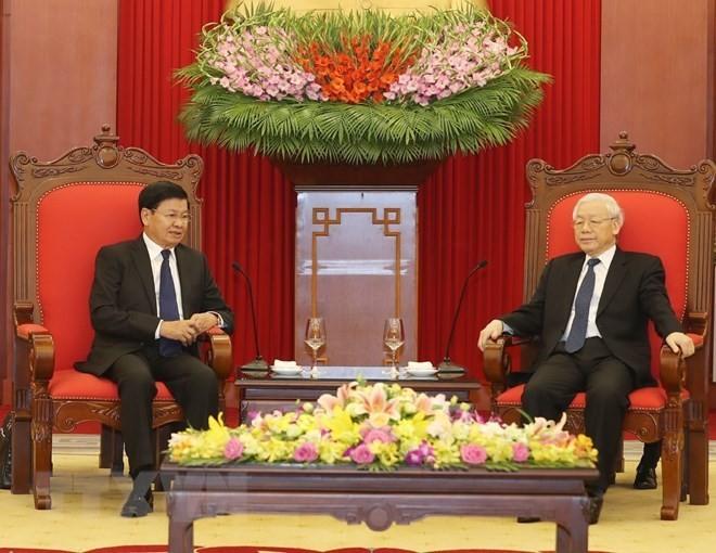 Vietnam always treasures special ties with Laos: Party leader - ảnh 1