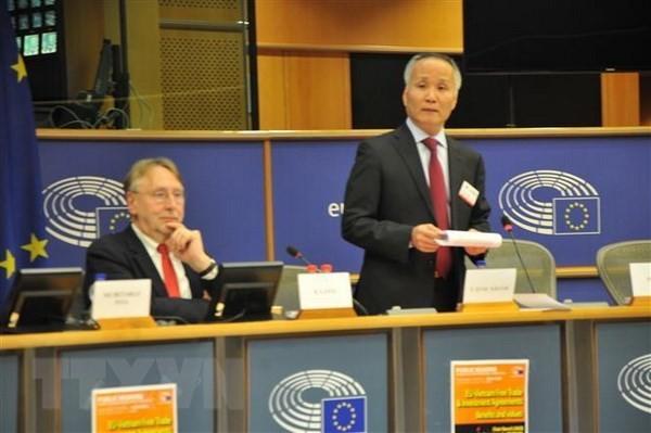 European Parliament holds hearing on EU-Vietnam FTA - ảnh 1