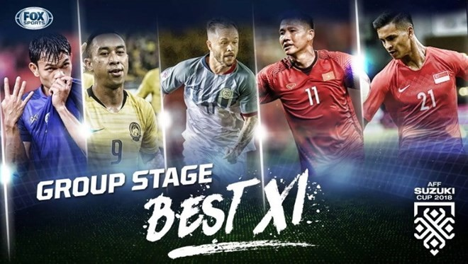 Two Vietnamese players listed in AFF Suzuki Cup group stage's best XI - ảnh 1