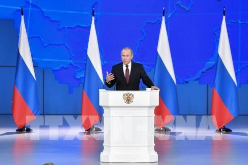 Vladimir Putin's Nation Address focuses on improving people's life, promoting dialogues - ảnh 1
