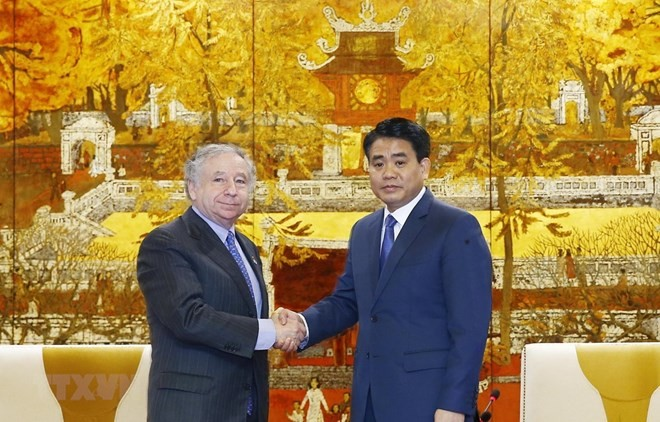Hanoi leader thanks FIA President for helping with F1 race - ảnh 1