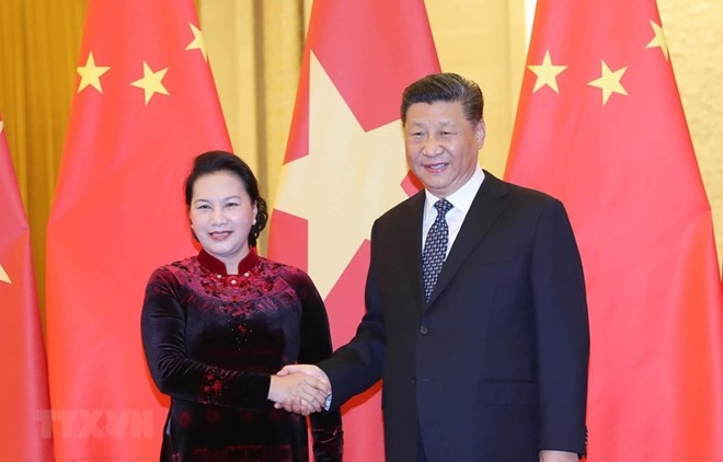 Vietnamese NA Chairwoman meets top Chinese Party and State leader - ảnh 1