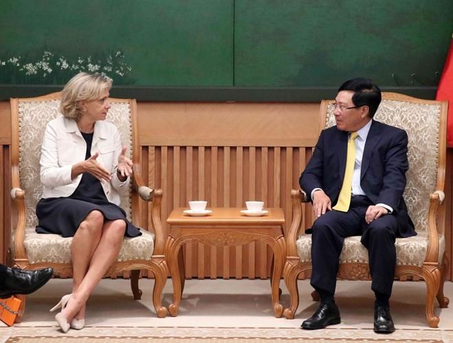 Deputy PM Pham Binh Minh receives leader of Ile-de-France region - ảnh 1