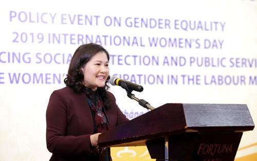 面向性别平等目标促进落实社会保障政策 - ảnh 1