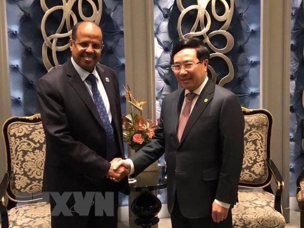 范平明会见吉布提共和国外交与国际合作部长优素福 - ảnh 1