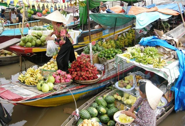 Floating markets – a typical cultural feature of the Mekong region - ảnh 3