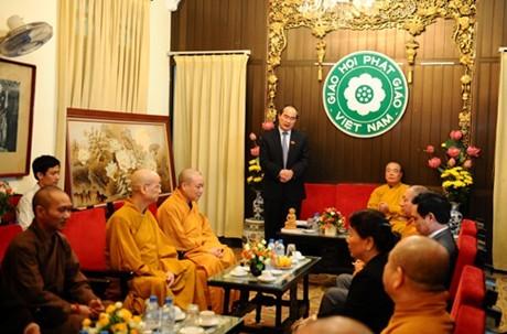 Reconocen aportes de la Sangha budista de Vietnam en construcción nacional - ảnh 1