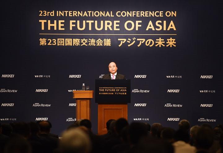"""Prensa japonesa aprecia compromisos del premier vietnamita en la Conferencia """"Futuro de Asia"""" - ảnh 1"""