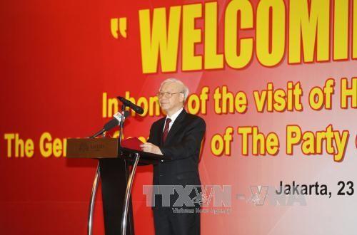 Líder partidista vietnamita confía en nuevas perspectivas de cooperación comercial con Indonesia  - ảnh 1