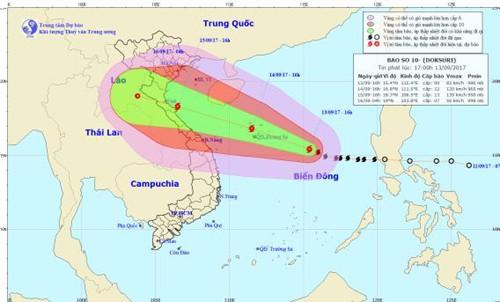Vietnam se prepara ante el paso del tifón Doksuri - ảnh 1