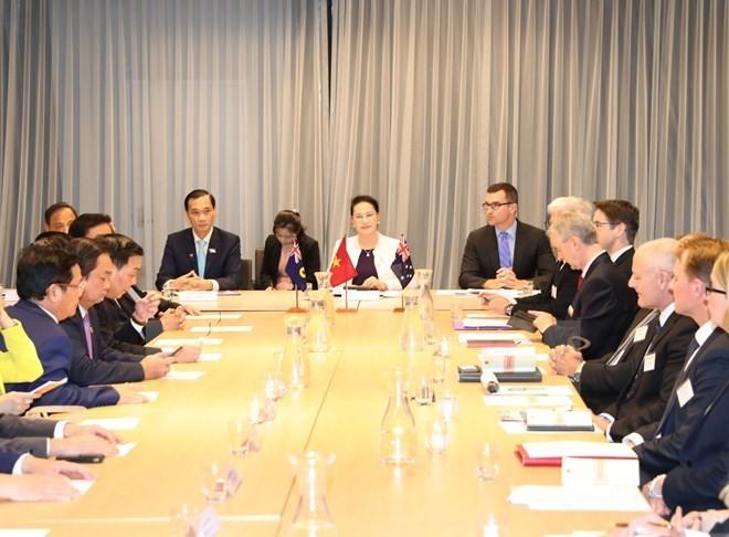 Presidenta parlamentaria asiste al Diálogo Empresarial Vietnam-Australia - ảnh 1