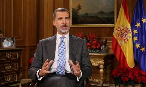 Rey español insta a la reconciliación nacional  - ảnh 1