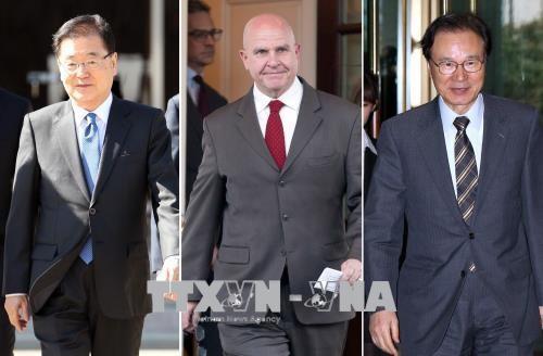 Corea del Norte critica conversaciones de defensa entre Estados Unidos, Japón y Corea del Sur - ảnh 1