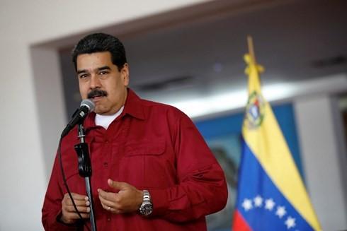 Presidente venezolano arranca campaña electoral  - ảnh 1