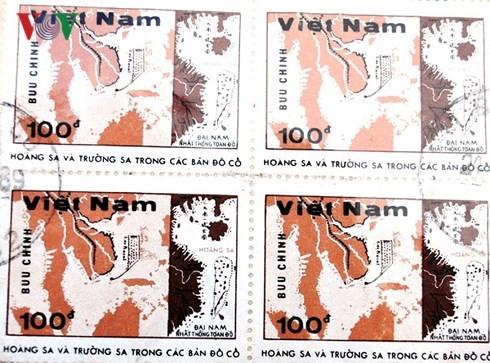 Tran Huu Hue, coleccionista de estampillas sobre Hoang Sa y Truong Sa - ảnh 1