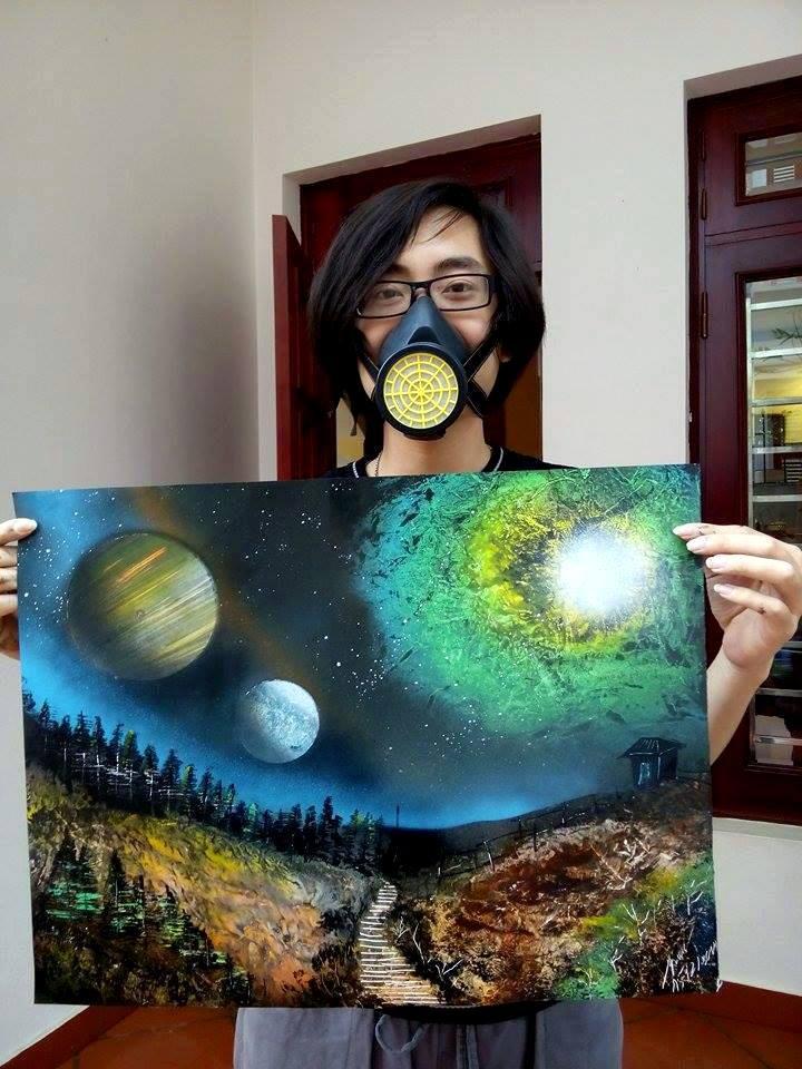 Las mágicas pinturas en aerosol de los jóvenes vietnamitas  - ảnh 1