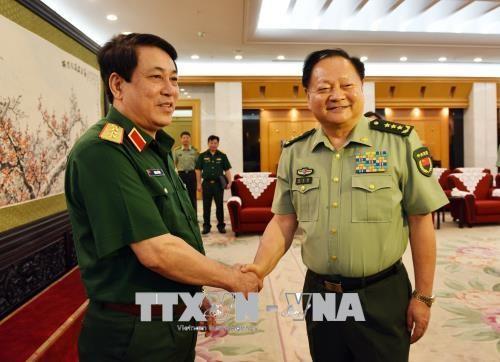Vietnam y China fortalecen cooperación en defensa  - ảnh 1