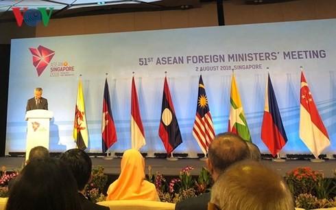 Inauguran 51 reunión de Ministros de Asuntos Exteriores de la Asean en Singapur - ảnh 1