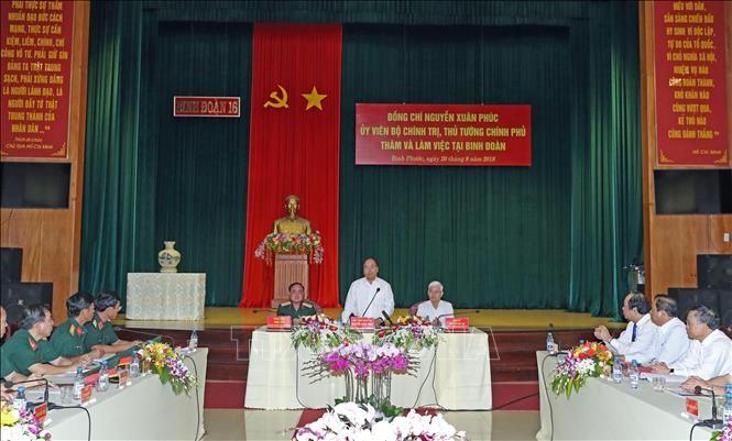 Premier vietnamita visita el Cuerpo Militar 16 en Binh Phuoc  - ảnh 1