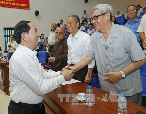 Votantes vietnamitas aprecian papel del presidente Tran Dai Quang como representante del pueblo  - ảnh 1