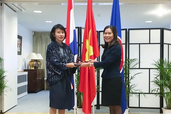 Embajadora vietnamita preside reunión ordinaria del Comité de la Asean en La Haya - ảnh 1