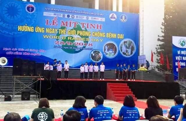 Celebran en Lao Cai el Día Internacional Contra la Rabia 2018 - ảnh 1