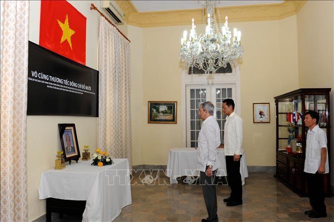 Embajadas vietnamitas en extranjero abren libro de condolencias por deceso de Do Muoi - ảnh 1
