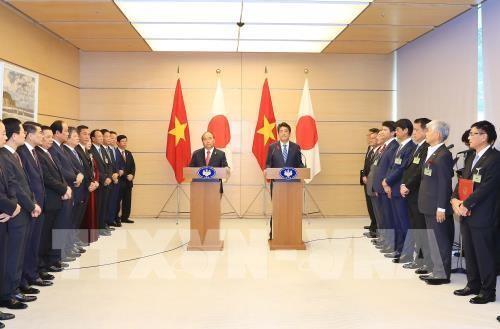 Prensa japonesa informa sobre visita del premier vietnamita  - ảnh 1
