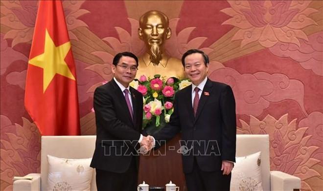 Parlamentos de Vietnam y Laos promueven medidas para estrechar lazos bilaterales - ảnh 1