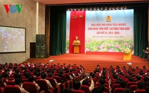 เปิดการประชุมใหญ่แข่งขันรักชาติเจ้าหน้าที่พนักงานและแรงงานทั่วประเทศครั้งที่ 9 - ảnh 1
