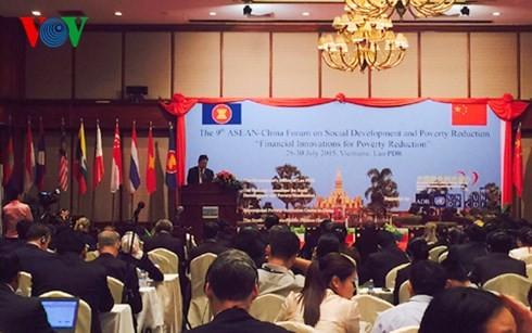 ฟอรั่มพัฒนาสังคมและแก้ปัญหาความยากจนอาเซียน-จีน - ảnh 1