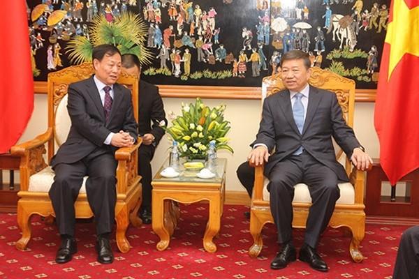 เวียดนามและจีนขยายความร่วมมือด้านการป้องกันและต่อต้านอาชญากรรม - ảnh 1