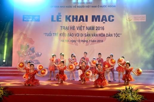 เปิดค่ายฤดูร้อนเวียดนามปี 2016 - ảnh 1