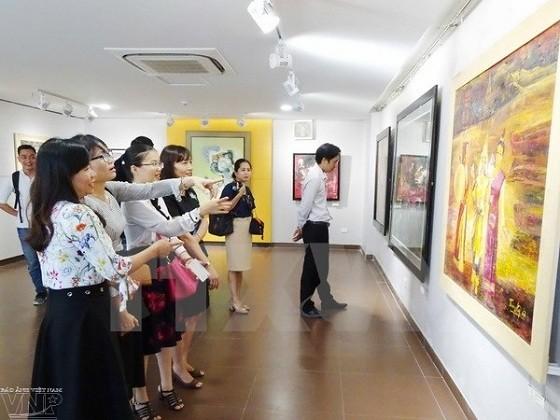 งานนิทรรศการวิจิตรศิลป์เวียดนาม ลาว กัมพูชา - ảnh 1